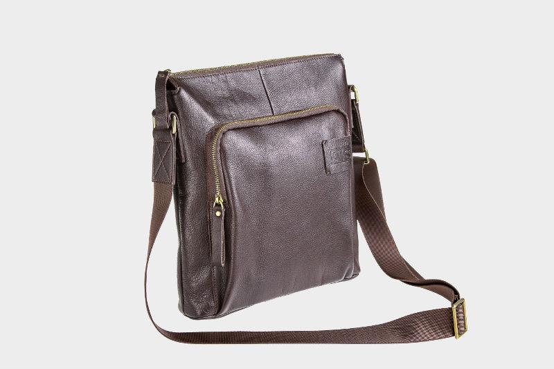 24ce3c819085 Кожаный мужской планшет из натуральной кожи «P0012 Brown» в наличии ...